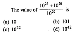 ML Aggarwal Class 7 Solutions for ICSE Maths Chapter 4 Exponents and Powers Objective Type Questions 15