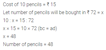 ML Aggarwal Class 7 Solutions for ICSE Maths Chapter 6 Ratio and Proportion Ex 6.3 2