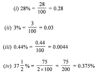 ML Aggarwal Class 7 Solutions for ICSE Maths Chapter 7 Percentage and Its Applications Ex 7.1 11