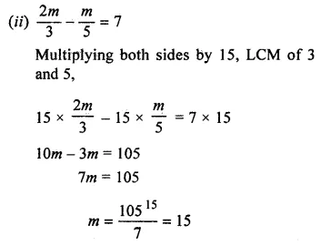 ML Aggarwal Class 7 Solutions for ICSE Maths Chapter 9 Linear Equations and Inequalities Ex 9.1 7