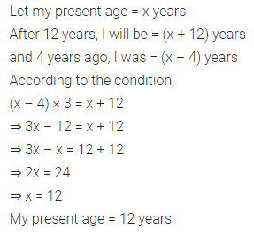 ML Aggarwal Class 7 Solutions for ICSE Maths Chapter 9 Linear Equations and Inequalities Ex 9.2 12