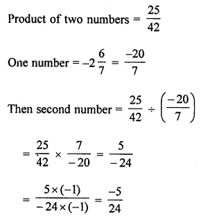 ML Aggarwal Class 8 Solutions for ICSE Maths Chapter 1 Rational Numbers Check Your Progress 7