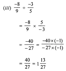 ML Aggarwal Class 8 Solutions for ICSE Maths Chapter 1 Rational Numbers Ex 1.4 3