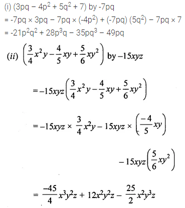 ML Aggarwal Class 8 Solutions for ICSE Maths Chapter 10 Algebraic Expressions and Identities Check Your Progress 5