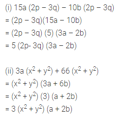 ML Aggarwal Class 8 Solutions for ICSE Maths Chapter 11 Factorisation Ex 11.1 6