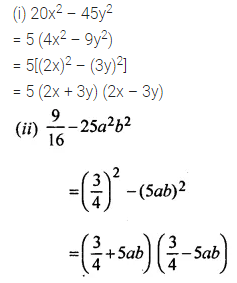 ML Aggarwal Class 8 Solutions for ICSE Maths Chapter 11 Factorisation Ex 11.3 6