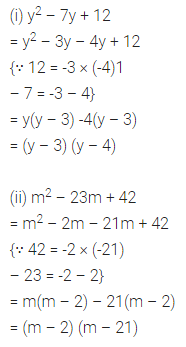 ML Aggarwal Class 8 Solutions for ICSE Maths Chapter 11 Factorisation Ex 11.4 3