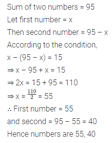 ML Aggarwal Class 8 Solutions for ICSE Maths Chapter 12 Linear Equations and Inequalities in one Variable Check Your Progress 7