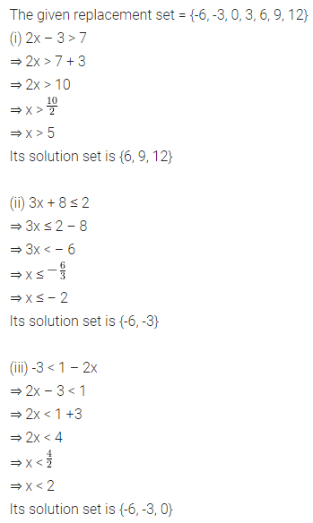 ML Aggarwal Class 8 Solutions for ICSE Maths Chapter 12 Linear Equations and Inequalities in one Variable Ex 12.3 5