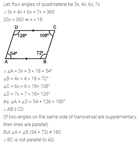 ML Aggarwal Class 8 Solutions for ICSE Maths Chapter 13 Understanding Quadrilaterals Check Your Progress 6