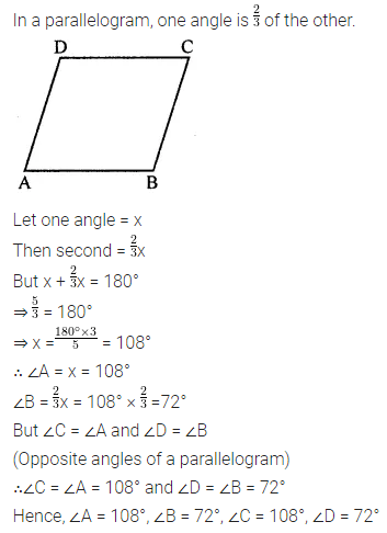 ML Aggarwal Class 8 Solutions for ICSE Maths Chapter 13 Understanding Quadrilaterals Check Your Progress 7