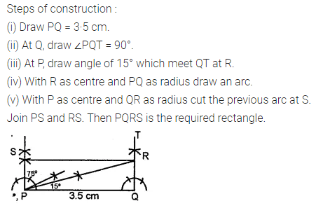 ML Aggarwal Class 8 Solutions for ICSE Maths Chapter 14 Constructions of Quadrilaterals Check Your Progress 8