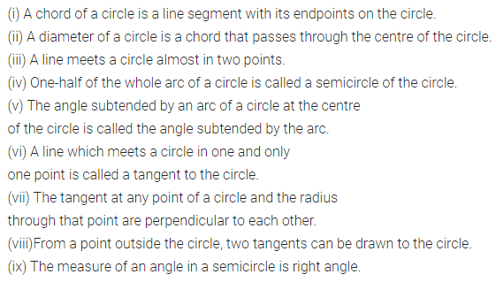 ML Aggarwal Class 8 Solutions for ICSE Maths Chapter 15 Circle Objective Type Questions 1