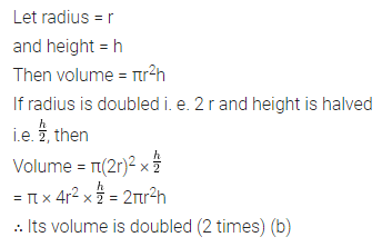 ML Aggarwal Class 8 Solutions for ICSE Maths Chapter 18 Mensuration Objective Type Questions 17