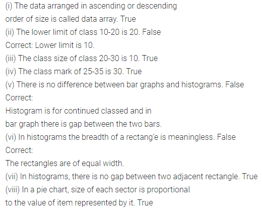 ML Aggarwal Class 8 Solutions for ICSE Maths Chapter 19 Data Handling Objective Type Questions 2