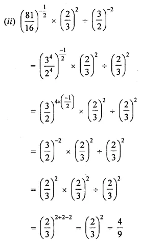 ML Aggarwal Class 8 Solutions for ICSE Maths Chapter 2 Exponents and Powers Check Your Progress 9