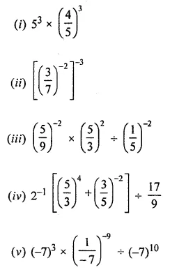 ML Aggarwal Class 8 Solutions for ICSE Maths Chapter 2 Exponents and Powers Ex 2.1 17