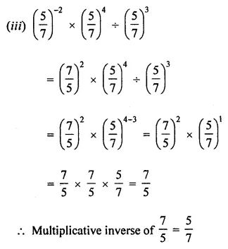 ML Aggarwal Class 8 Solutions for ICSE Maths Chapter 2 Exponents and Powers Ex 2.1 8