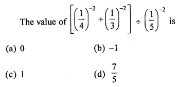 ML Aggarwal Class 8 Solutions for ICSE Maths Chapter 2 Exponents and Powers Objective Type Questions 5