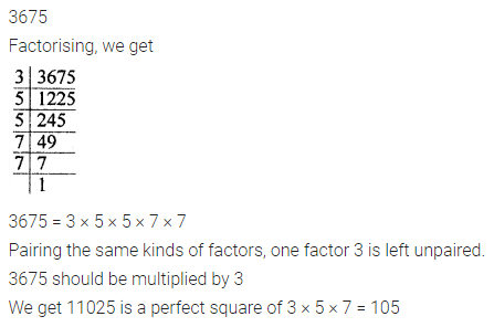 ML Aggarwal Class 8 Solutions for ICSE Maths Chapter 3 Squares and Square Roots Check Your Progress 2