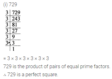 ML Aggarwal Class 8 Solutions for ICSE Maths Chapter 3 Squares and Square Roots Ex 3.1 1