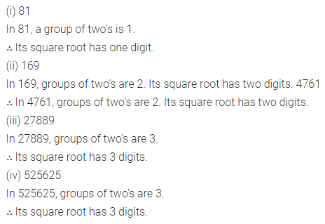 ML Aggarwal Class 8 Solutions for ICSE Maths Chapter 3 Squares and Square Roots Ex 3.4 4