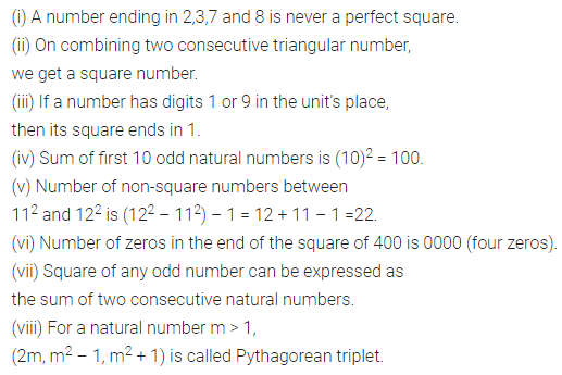 ML Aggarwal Class 8 Solutions for ICSE Maths Chapter 3 Squares and Square Roots Objective Type Questions 1