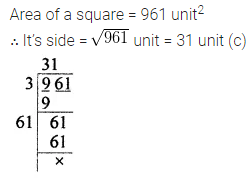 ML Aggarwal Class 8 Solutions for ICSE Maths Chapter 3 Squares and Square Roots Objective Type Questions 12