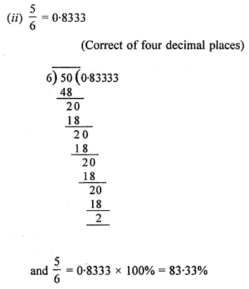 ML Aggarwal Class 8 Solutions for ICSE Maths Chapter 7 Percentage Ex 7.1 8