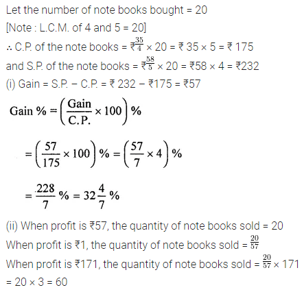 ML Aggarwal Class 8 Solutions for ICSE Maths Chapter 7 Percentage Ex 7.2 9