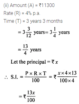 ML Aggarwal Class 8 Solutions for ICSE Maths Chapter 8 Simple and Compound Interest Ex 8.1 6
