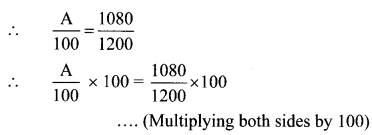Maharashtra Board Class 6 Maths Solutions Chapter 12 Percentage Practice Set 30 6
