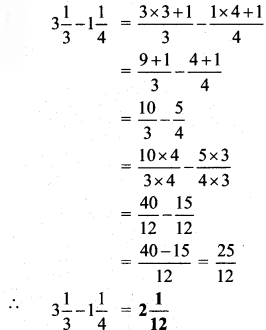 Maharashtra Board Class 6 Maths Solutions Chapter 4 Operations on Fractions Practice Set 10 5