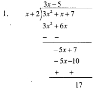 Maharashtra Board Class 9 Maths Solutions Chapter 3 Polynomials Practice Set 3.5 1