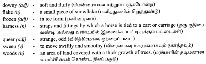 Tamilnadu Board Class 9 English Solutions Poem Chapter 1 Stopping by Woods on a Snowy Evening - 4