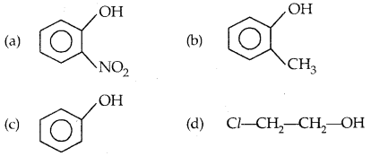MCQ Questions for Class 12 Chemistry Chapter 11 Alcohols, Phenols and Ethers with Answers 10
