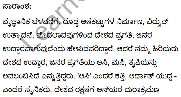 Asi Masi Krishi Summary in Kannada 1