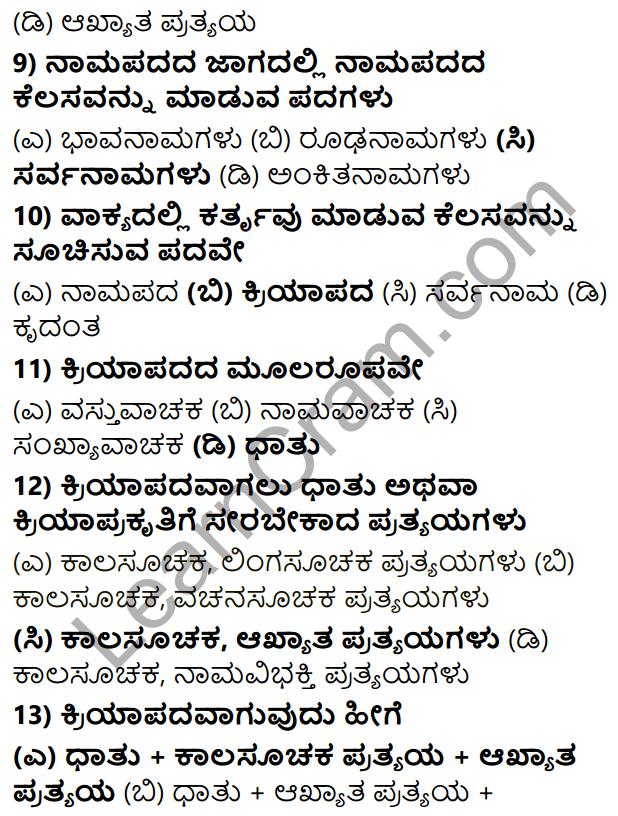Karnataka SSLC Class 10 Tili Kannada Grammar Anvayika Vyakarana 66