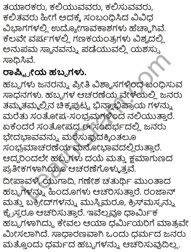 Tili Kannada Text Book Class 9 Rachana Bhaga Prabandha Rachane 11
