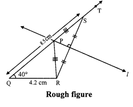 Maharashtra Board Class 9 Maths Solutions Chapter 4 Constructions of Triangles Practice Set 4.1 1