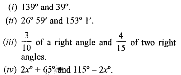 Selina Concise Mathematics Class 7 ICSE Solutions Chapter 14 Lines and Angles Ex 14A Q13