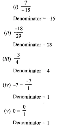 Selina Concise Mathematics Class 7 ICSE Solutions Chapter 2 Rational Numbers Ex 2A 2