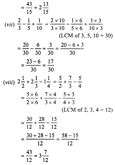 Selina Concise Mathematics Class 7 ICSE Solutions Chapter 3 Fractions (Including Problems) Ex 3C 32