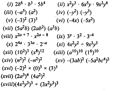 Selina Concise Mathematics Class 7 ICSE Solutions Chapter 5 Exponents (Including Laws of Exponents) Ex 5B Q3