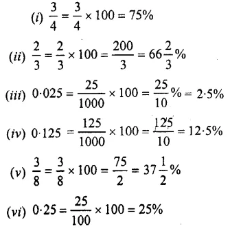 Selina Concise Mathematics Class 7 ICSE Solutions Chapter 8 Percent and Percentage Ex 8A 1