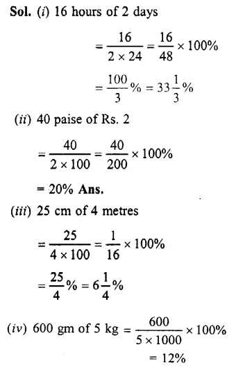 Selina Concise Mathematics Class 7 ICSE Solutions Chapter 8 Percent and Percentage Ex 8A 4