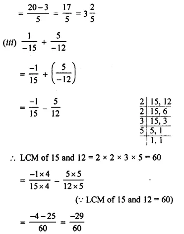 Selina Concise Mathematics Class 8 ICSE Solutions Chapter 1 Rational Numbers EX 1A 9