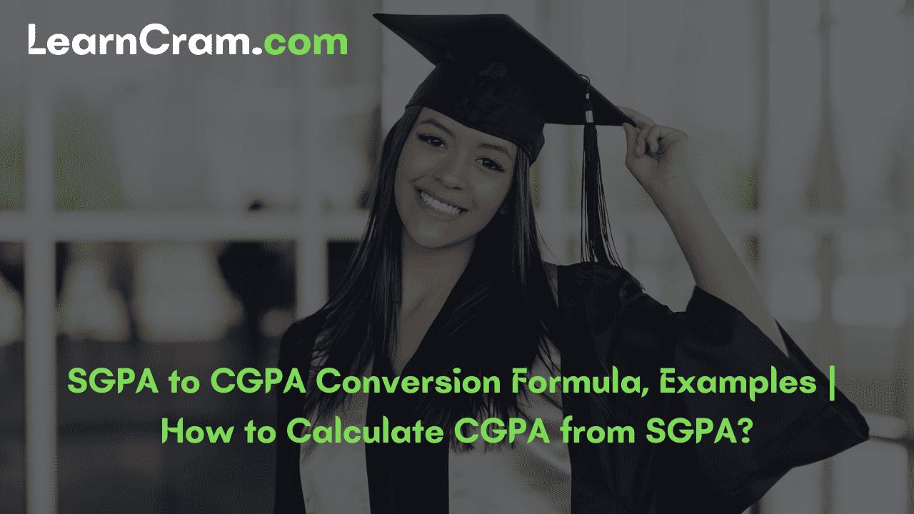 Convert SGPA to CGPA