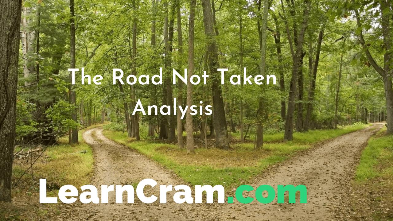 The Road Not Taken Analysis