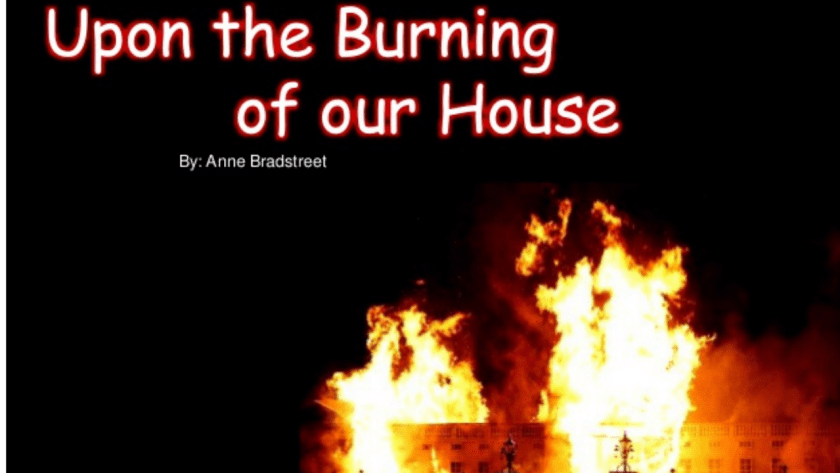 Upon The Burning Of Our House